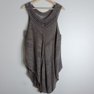 Free People| Linen Blend Knit Layering Tank Top